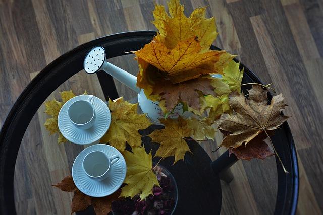 hrníčky a listí